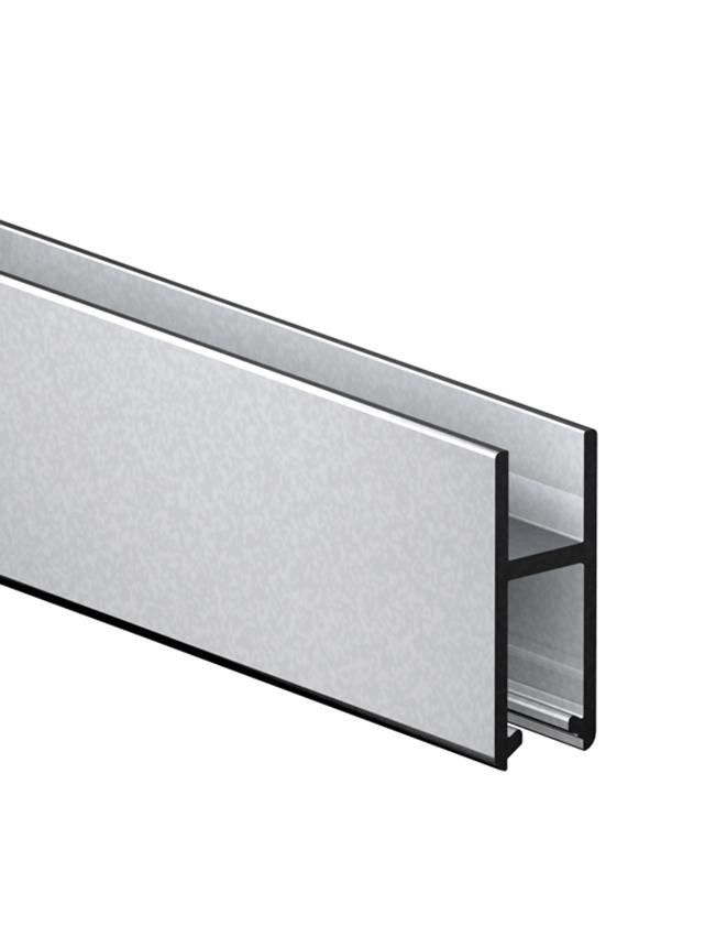 SPODNÍ LIŠTA NA SKLO TLOUŠŤKY 8-10mm