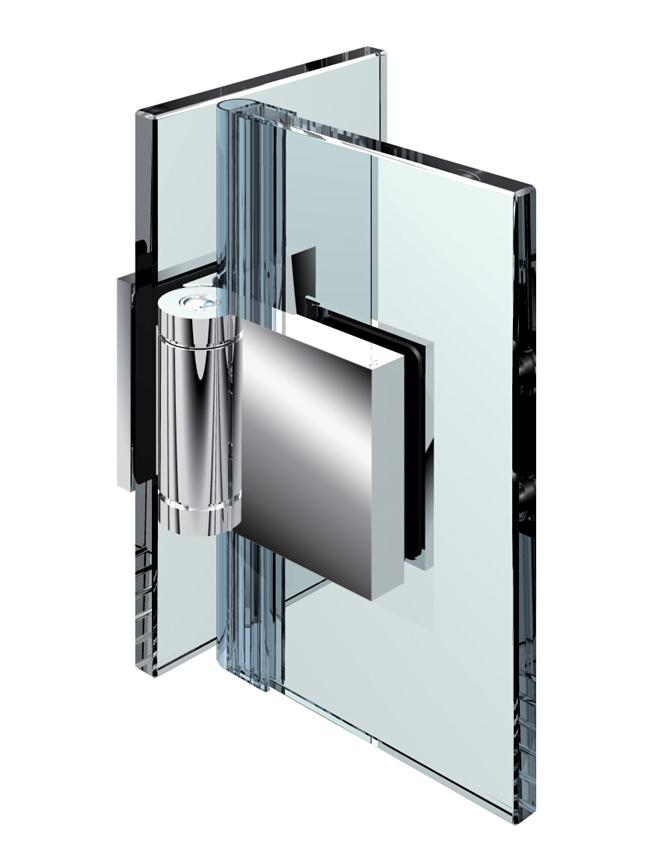 FLINTER pánt, sklo-sklo 90°