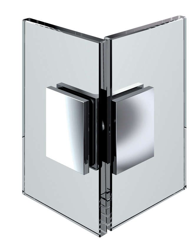Pevný rohový spojovník, sklo-sklo 90 °