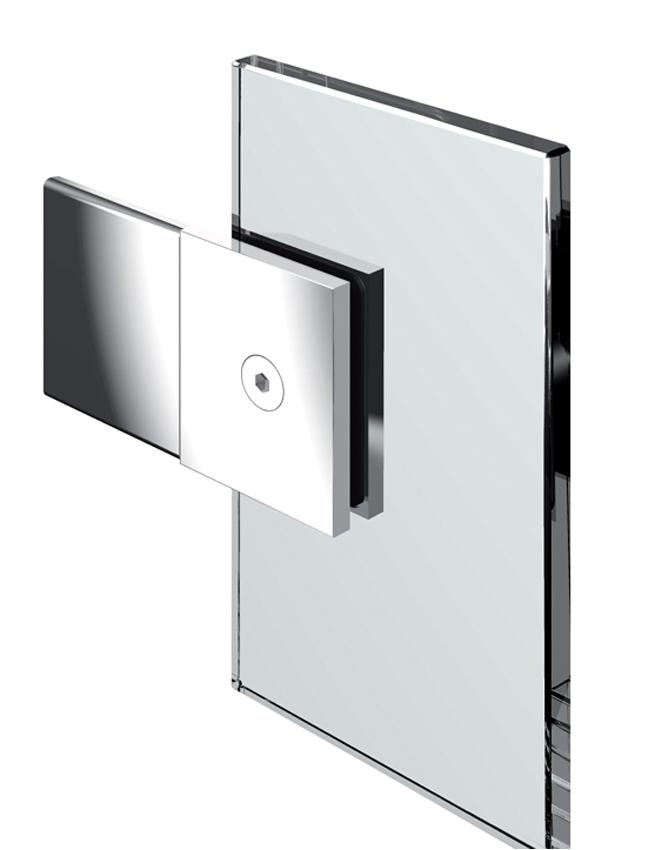 Pevný spojovník, stena-sklo 180°