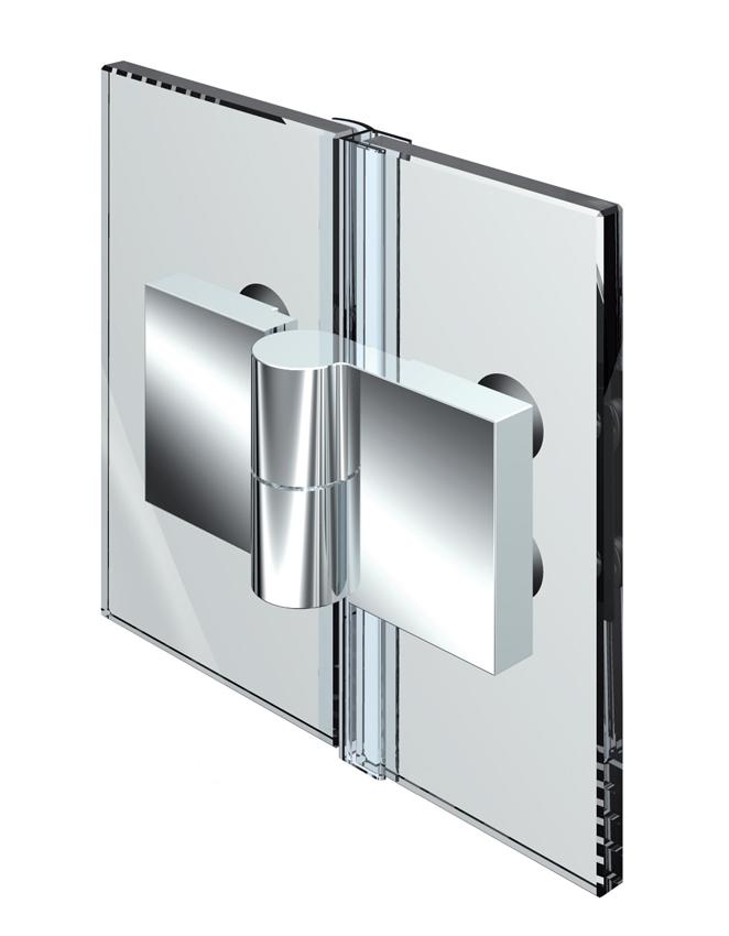 Nivello+ zvedací pant, sklo-sklo 180 °