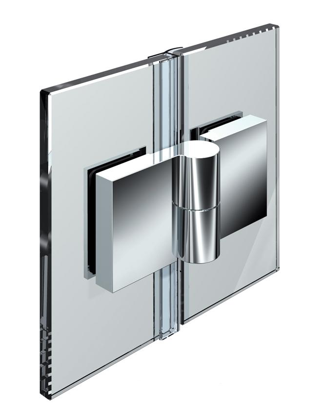 NIVELLO zdvíhací pánt, sklo-sklo 180°