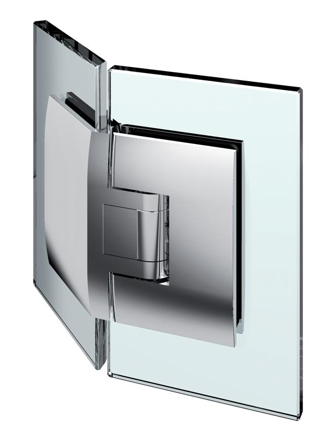 PONTERE kyvný pánt, sklo-sklo 135°