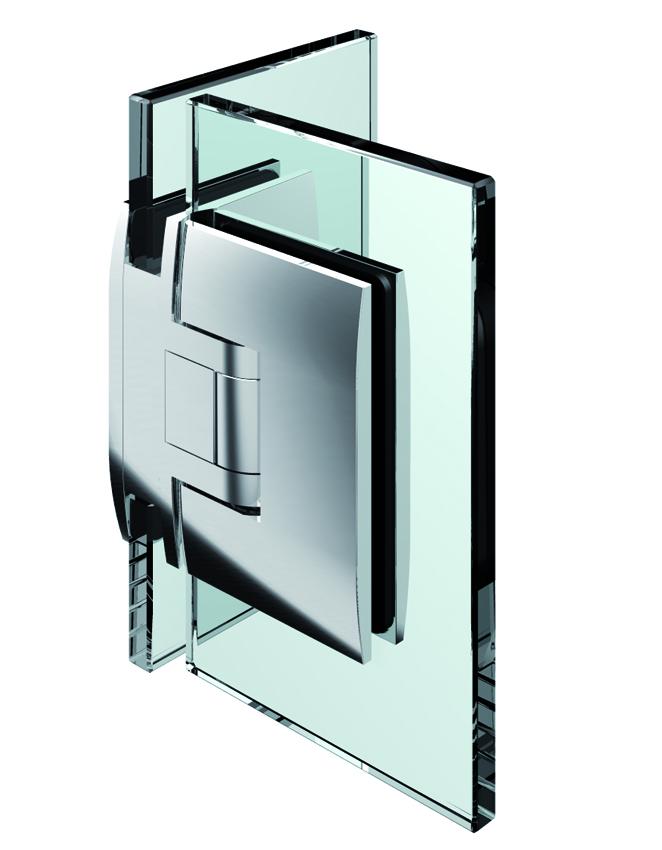 PONTERE kyvný pánt, sklo-sklo 90°