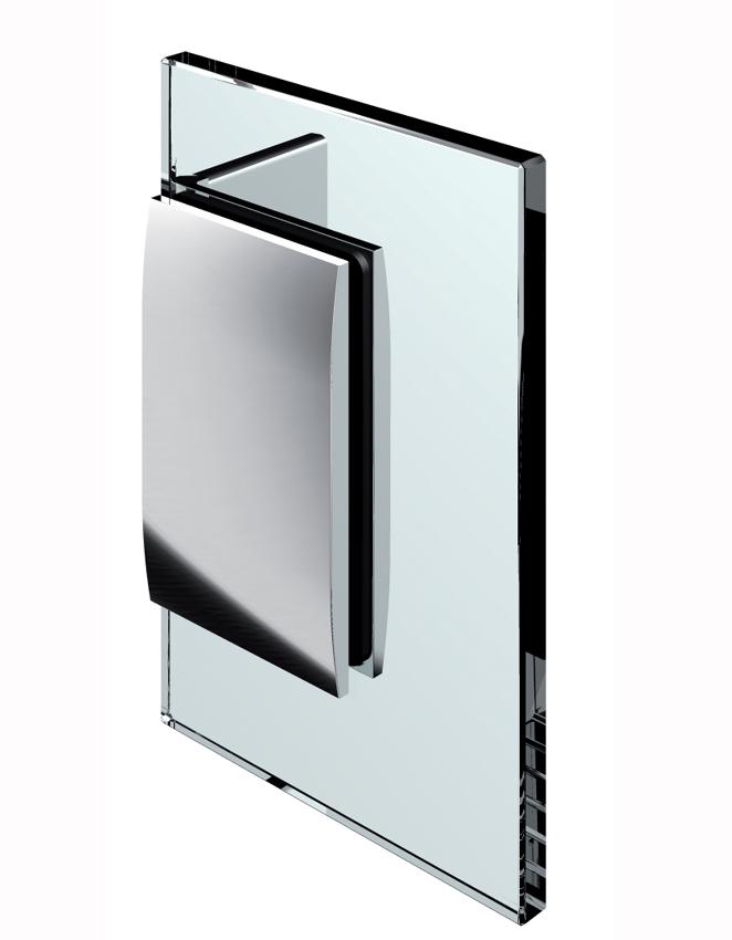 Pevný spojovník, stena-sklo 90°