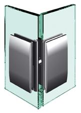 Nastavitelný spojovník, sklo-sklo 80 ° -180 °