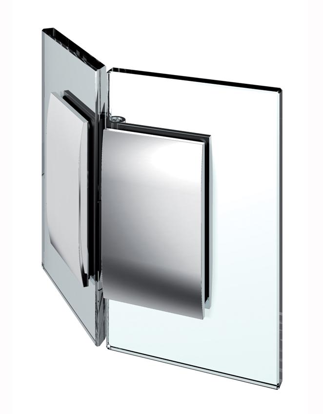 Nastaviteľný spojovník, sklo-sklo 135°