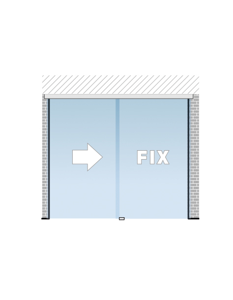 Portavant 80 Automatic set určený pre montáž fixného panelu