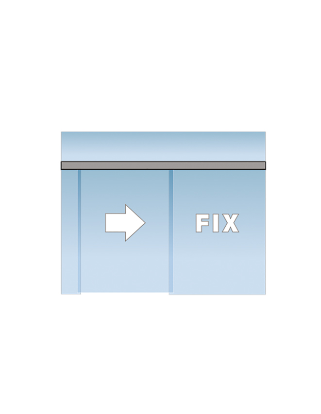 Portavant 80 Automatic set montáž do skleněného fixního panelu