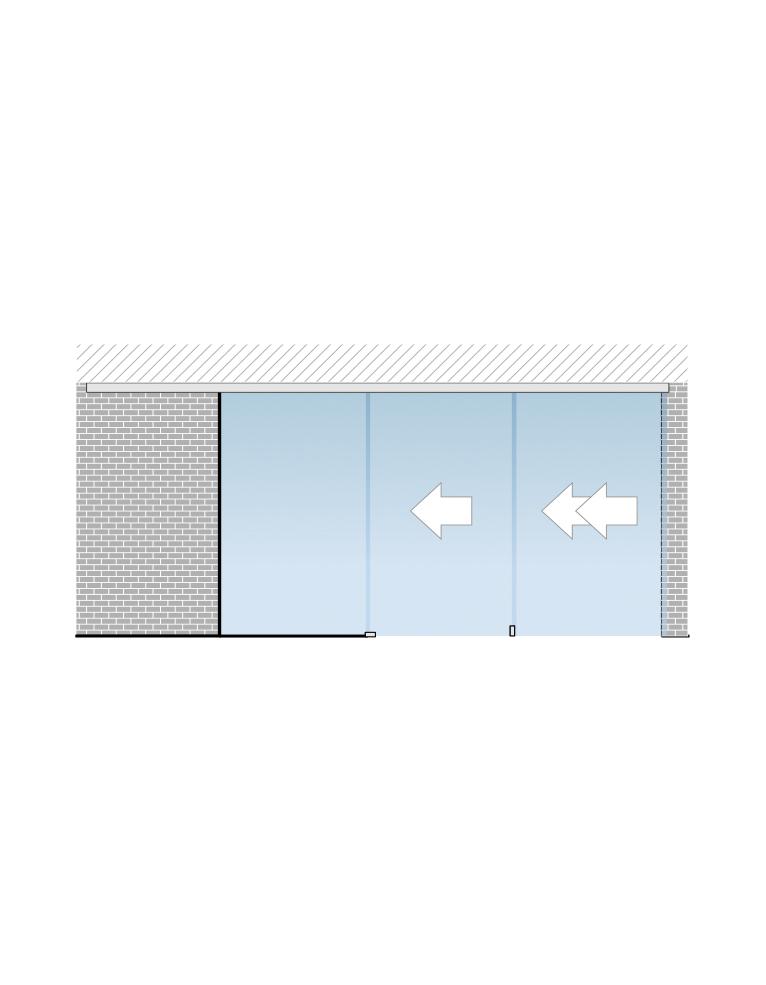 Portavant 60 Twinline set určený pro montáž do stropu s fixním panelem