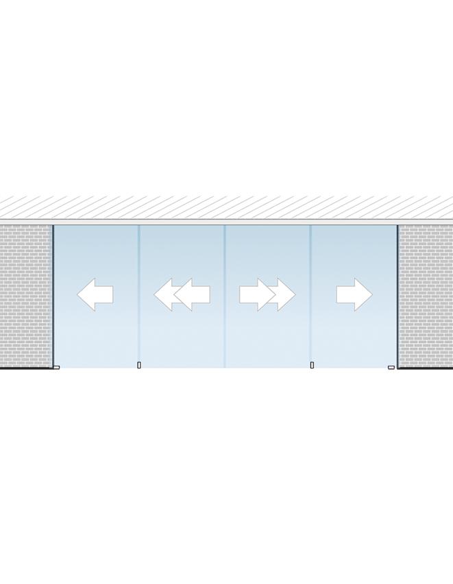 Portavant 60 Twinline set určený pre montáž do stropu